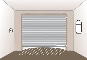 Monvoletroulant la pose de porte de garage enroulable for Installation porte de garage enroulable